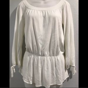 "Loft 3/4"" Sleeve Cream Sweater - XS"